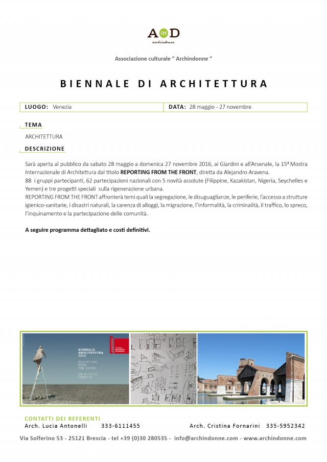 Brochure Eventi Archindonne 20168