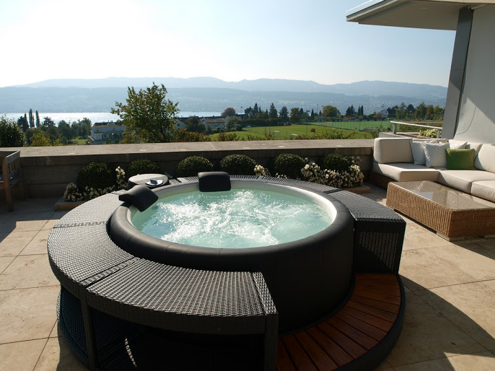 Jacuzzi Da Esterno Perfect Piscina Gonfiabile Alpine With Jacuzzi